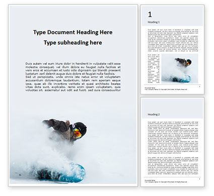 Sports: Templat Word Gratis Snowboarder Presentation #16558