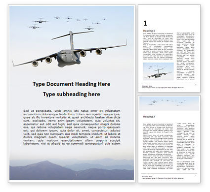 Military: 무료 워드 템플릿 - united states air force c-17 globemaster in the sky presentation #16574