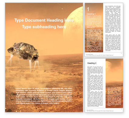 Technology, Science & Computers: Mars Exploration Presentation Gratis Word Template #16586