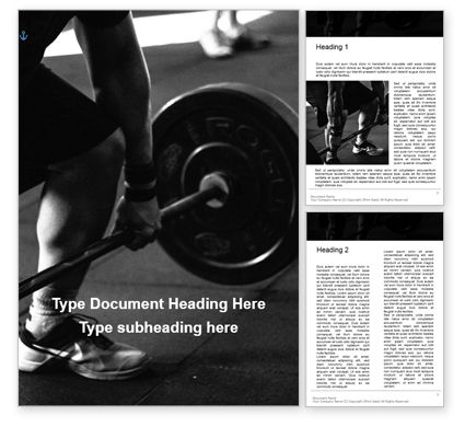 Sports: Modèle Word gratuit de closeup of hands of powerlifter on barbell presentation #16609