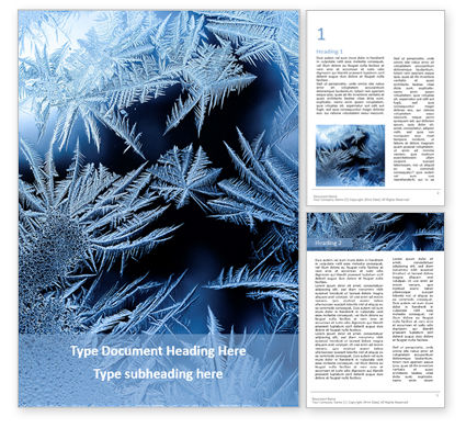 Nature & Environment: Modelo de Word Grátis - beautiful crispy frost structure on a window presentation #16610