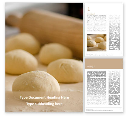 Food & Beverage: Plantilla de Word gratis - fresh raw dough portions presentation #16617
