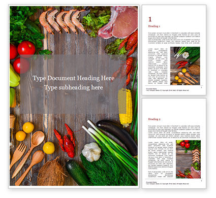 Food & Beverage: Plantilla de Word gratis - balanced diet food concept presentation #16623