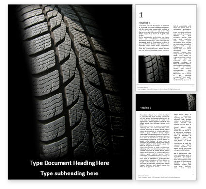 Cars/Transportation: Modern Winter Tire Presentation Gratis Word Template #16630
