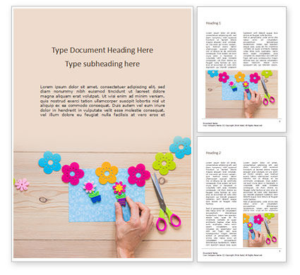 Holiday/Special Occasion: making a scrapbook presentation - 無料Wordテンプレート #16632