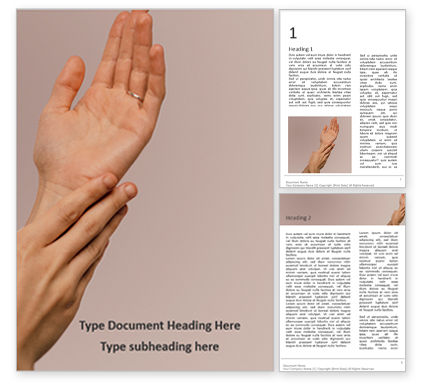 Medical: Hand skin care presentation免费Word模板 #16637