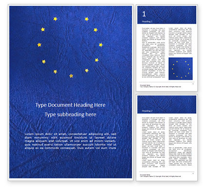 Flags/International: Brexit Concept Presentation Gratis Word Template #16656