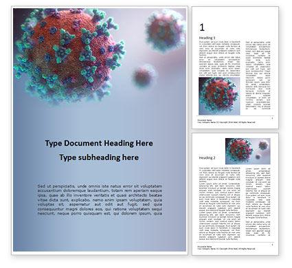 3D: 무료 워드 템플릿 - coronavirus 3d rendering #16661
