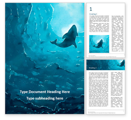 Nature & Environment: Modèle Word gratuit de deep under the ocean #16686