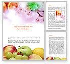 Food & Beverage: Modello Word - Frutta fresca d'estate #00689