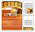 Art & Entertainment: Popcorn Word Template #00962