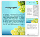 Food & Beverage: White Grape Word Template #01281