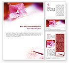 Art & Entertainment: Flower Painting Word Template #01543