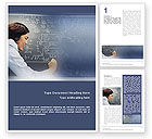 Education & Training: Studying Word Template #01550