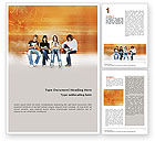 Education & Training: Students Who Read Word Template #01559