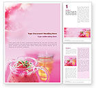 Food & Beverage: Raspberry Milk Shake Word Template #01564