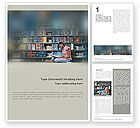 Education & Training: School Girl In The Library Word Template #01565