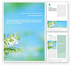 Nature & Environment: Frühling Word Vorlage #01566