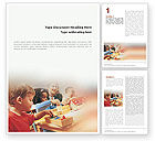 Education & Training: Children Word Template #01567