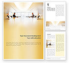Business Concepts: Conference Hall Negotiation Word Template #01569