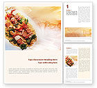 Food & Beverage: Grill Word Template #01582