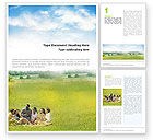 People: Outing Word Template #01595