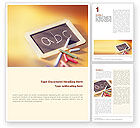 Education & Training: ABC Word Template #01603