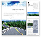 Construction: Modello Word - Autostrada nella regione collinare #01612