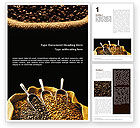 Careers/Industry: Coffee Beans In A Bag Word Template #01613