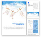Art & Entertainment: Flying Ballerinas Word Template #01646