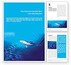 Nature & Environment: Modelo de Word Grátis - vida selvagem oceânica #01649