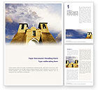 Religious/Spiritual: San Francisco de Asis Mission Church Word Template #01655