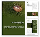 Sports: American Football Play Off Word Template #01674