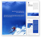 Sports: Skiing Word Template #01678