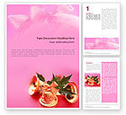 Holiday/Special Occasion: Christmas Bells On A Pink Background Word Template #01679