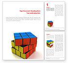 3D: Rubik's Cube Word Template #01683