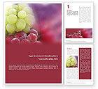 Food & Beverage: Modèle Word de les raisins blancs et rouges #01705