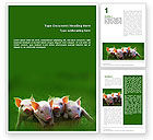 Agriculture and Animals: Plantilla de Word - cerdo #01708