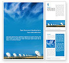 Telecommunication: listening To Sky Word Template #01719