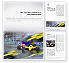 Sports: Auto Racing Word Template #01744