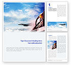 Military: Fighter Aircraft Word Template #01747