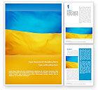 Flags/International: Ukrainian Flag Word Template #01760