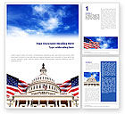 Flags/International: United States Capitol Building Word Template #01766