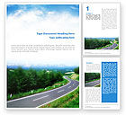 Careers/Industry: Road Word Template #01769