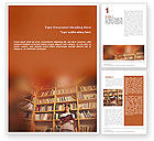 Education & Training: Girl On The Library Background Word Template #01770
