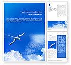 Nature & Environment: Modèle Word gratuit de mouette de mer #01773