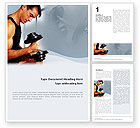 Sports: Bodybuilding Exercise Word Template #01791