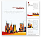 Food & Beverage: Bottles of Beer Word Template #01793