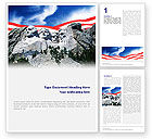 Flags/International: National Memorial Word Template #01796