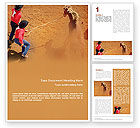 Agriculture and Animals: Rodeo Word Template #01802